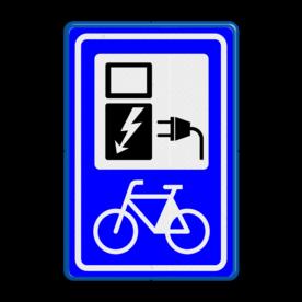 Verkeersbord RVV BW101_SP20 fiets-laadpunt - BE01