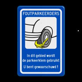 Verkeersbord RVV OV0412 - Parkeren - wielklem