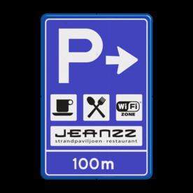 Verkeersbord RVV BW203 inclusief logo