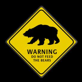 Verkeersbord Australie - BEARS