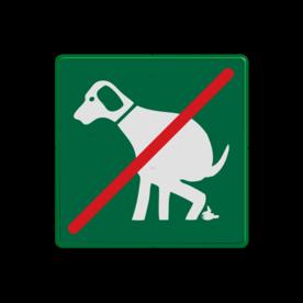 Verkeersbord - geen honden uitlaten