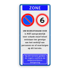 Verkeersbord E01-A01xx - aansprakelijkheid