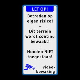 Tekstbord LET OP! + eigen tekst