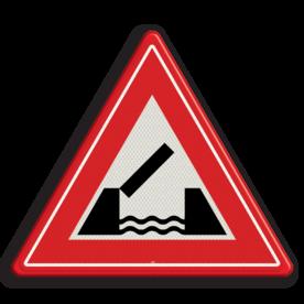 Verkeersbord RVV J15 - Vooraanduiding beweegbare brug