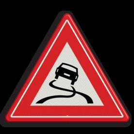 Verkeersbord RVV J20 - Vooraanduiding slipgevaar