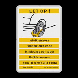 Informatiebord OV0412_2 LET OP! Wielklem - diverse talen