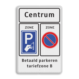 Verkeersbord RVV E01z / BW111zb - txt - Start parkeerzone