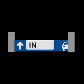 Verwijsbord AUTO RAL7040 800x150 + reflex | Route | Montagestukken 80x80mm
