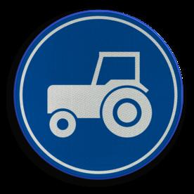 Verkeersbord RVV F11 - Passeerstrook langzaam verkeer