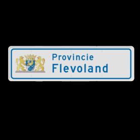 Provinciebord rechthoek VOL reflecterend + full-colour opdruk