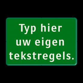 Tekstbord groen/wit 3 regelig