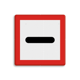 Scheepvaartbord BPR B. 5 - Verplicht voor het bord stil te houden