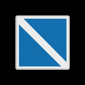 Scheepvaartbord BPR E.11 - Einde van een verbod of een gebod