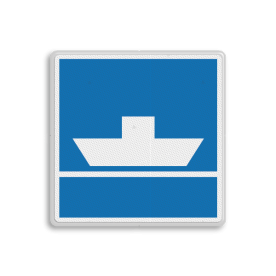 Scheepvaartbord BPR E. 4a - Niet vrijvarende veerpont