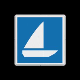 Scheepvaartbord BPR E.18 - Zeilschepen toegestaan