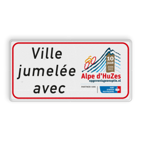 Informatiebord rechthoek 2:1  Alpe d' HuZes - KWF
