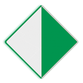Scheepvaartbord BPR D. 2a rechts - Aanbeveling binnen de aangegeven begrenzing te varen