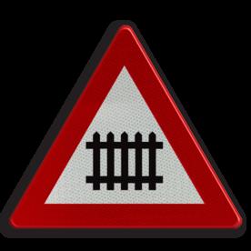 Verkeersbord België A41 - Overweg met slagbomen