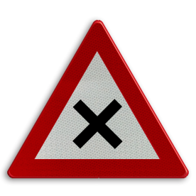 Verkeersbord België B17 - Kruispunt