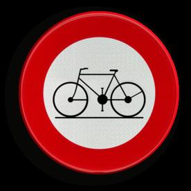 Verkeersbord België C11 - Verboden toegang voor bestuurders van rijwielen