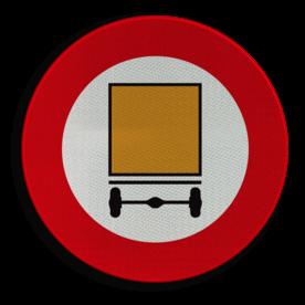 Verkeersbord België C24a - Verboden toegang voor bestuurders van voertuigen die gevaarlijke goederen vervoeren