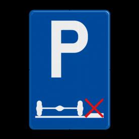 Verkeersbord België E9g - Verplicht parkeren op de rijbaan