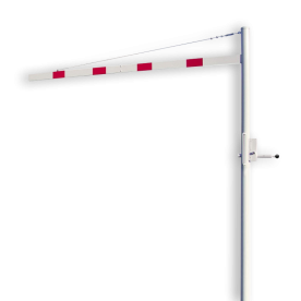 Hoogtebegrenzer variabel 1,8 - 2,8 mtr. - Horizontaal Draaibaar 1 Delig - Montage in de grond