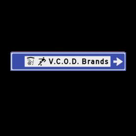 Verwijsbord 1500x230x32mm sport - 2 pictogrammen