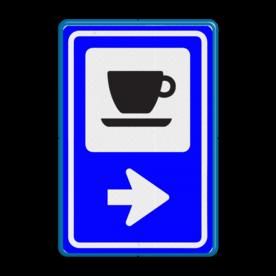 Bewegwijzering Routebord Horeca  BW101 + pijlfiguratie