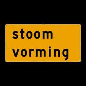 Tekstbord - OB604t - stoom vorming - Werk in uitvoering