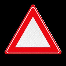 Verkeersbordsticker RVV J00 - zonder interieur