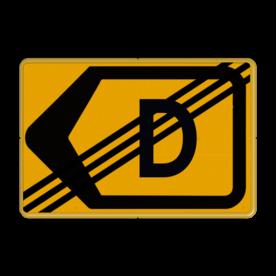 Tekstbord - T201l-de - Werk in uitvoering