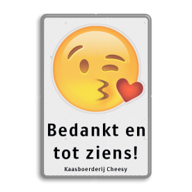 Informatiebord Emoji met eigen tekst