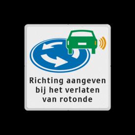 Informatiebord - D01 - Richting aangeven op rotonde