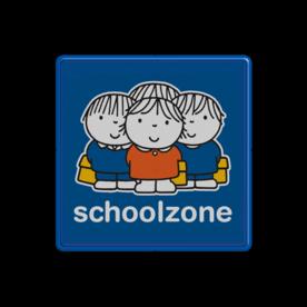 Dick Bruna - Attentiebord  schoolzone