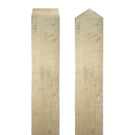 Paal eikenhout - 2500x100x100mm