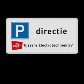 Verkeersbord 2:1 RVV E04 + eigen tekst + logo