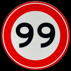 Verkeersteken A01-00 vrij invoerbaar - klasse 3