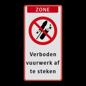 Vuurwerkbord + banner + tekst