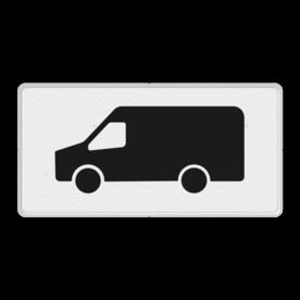 Verkeersbord RVV OB25 - Onderbord - Geldt alleen voor transporter bus