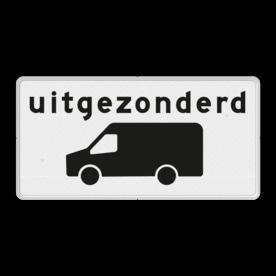 Verkeersbord RVV OB66 - Onderbord - Uitgezonderd transporter bus