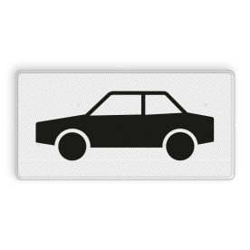 Verkeersbord RVV OB09 - Onderbord - Geldt alleen voor auto's