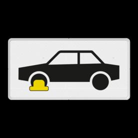 Verkeersbord RVV OB301 - Onderbord - Wielklemregeling van kracht