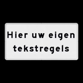 Verkeersbord RVV OBD - uw eigen tekst