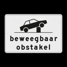 Verkeersbord RVV OB627 - Onderbord - Beweegbaar obstakel