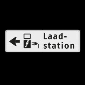 Verkeersbord RVV OBE05l - Onderbord -  Elektrisch laadstation links