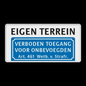 Informatiebord Verboden toegang voor onbevoegden + aanhef - BT03
