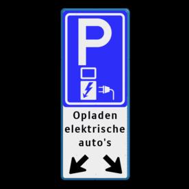 Verkeersbord parkeren elektrische auto's + pijlen - BE04e