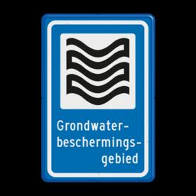 Verkeersbord RVV L305b - Grondwaterbeschermingsgebied