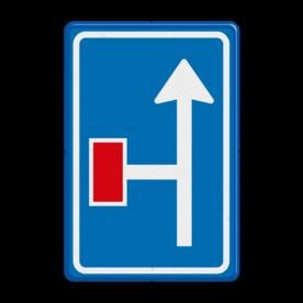 Verkeersbord RVV L09-2l - Doodlopende weg - voorwaarschuwing